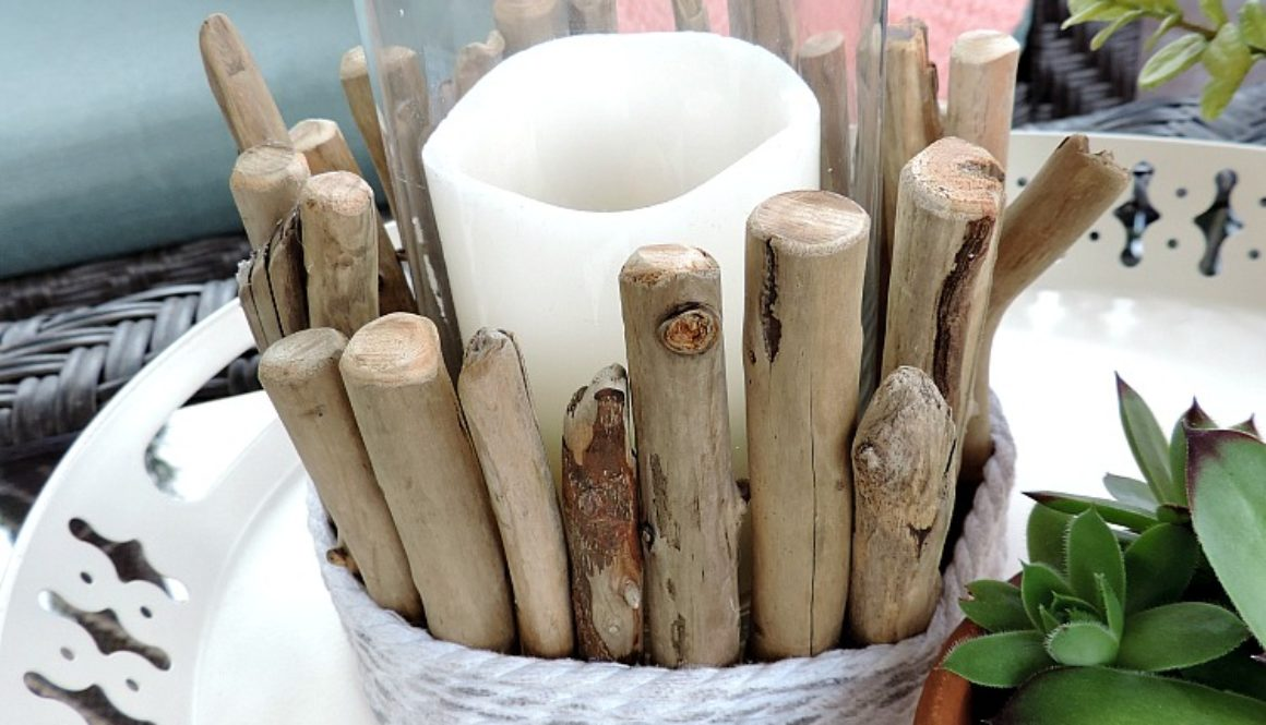 DIY-drift wood candle holder