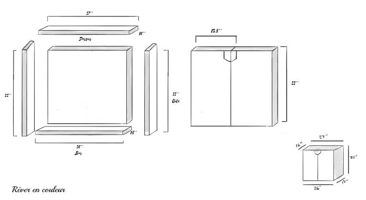 diy construire une commode en mdf tape par tape r ver en couleur. Black Bedroom Furniture Sets. Home Design Ideas