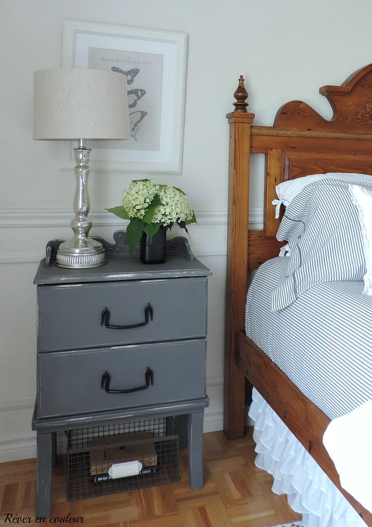 La chambre à coucher en blanc et gris - Rêver en couleur