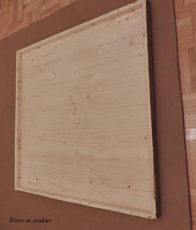 fabriquer un grand cadre en shiplap pour moins de 10 r ver en couleur. Black Bedroom Furniture Sets. Home Design Ideas