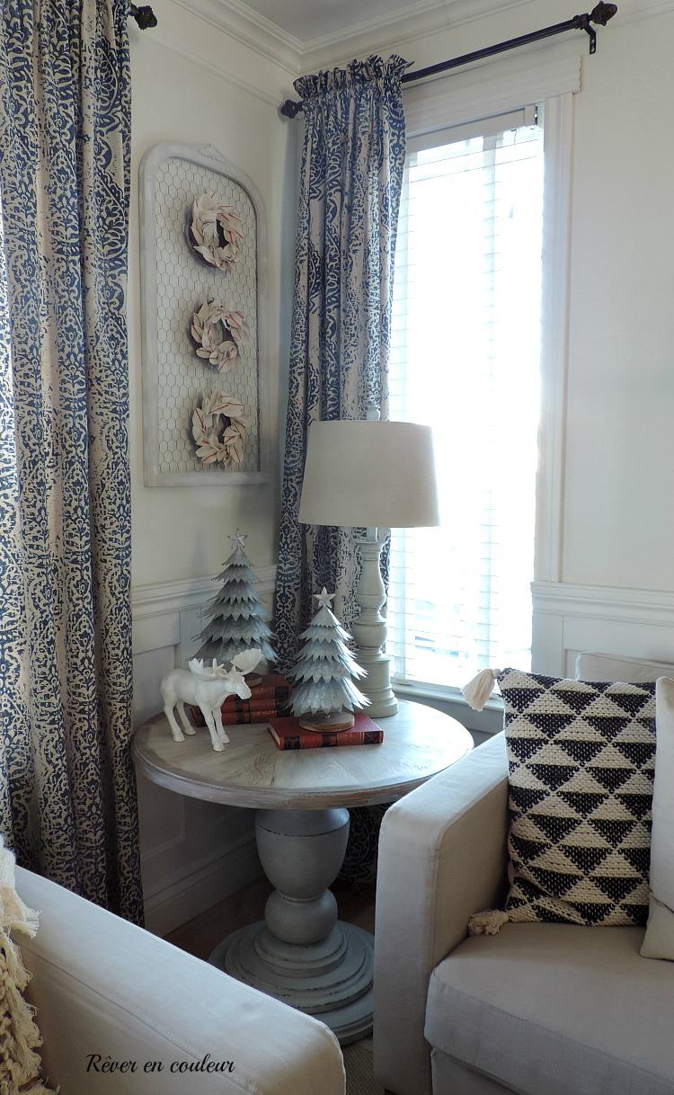 how to white wash a tabletop, comment faire une table de salon en bois blanchi