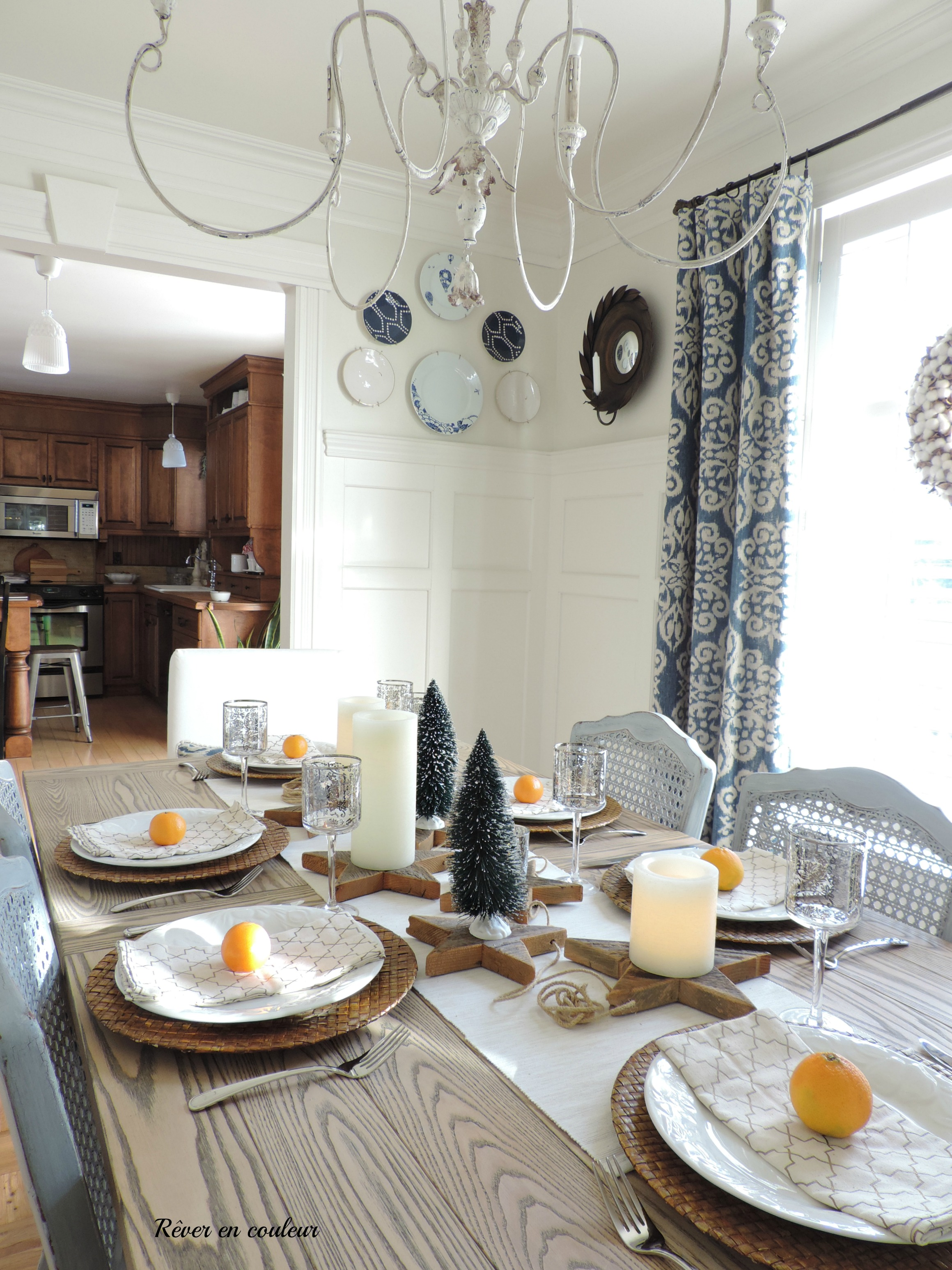 christmas in the dining room