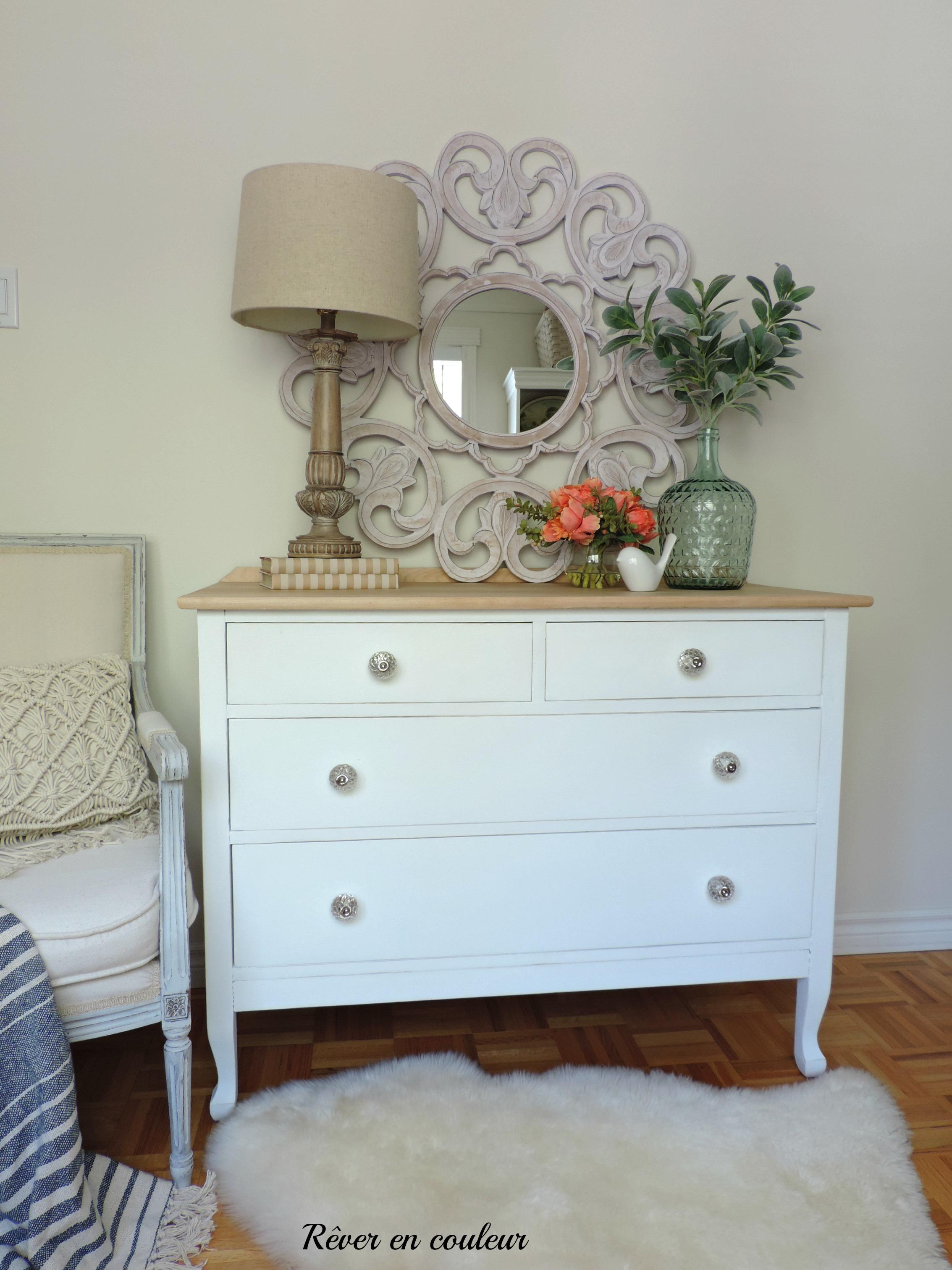 ma nouvelle commode ma recette de peinture la craie maison r ver en couleur. Black Bedroom Furniture Sets. Home Design Ideas