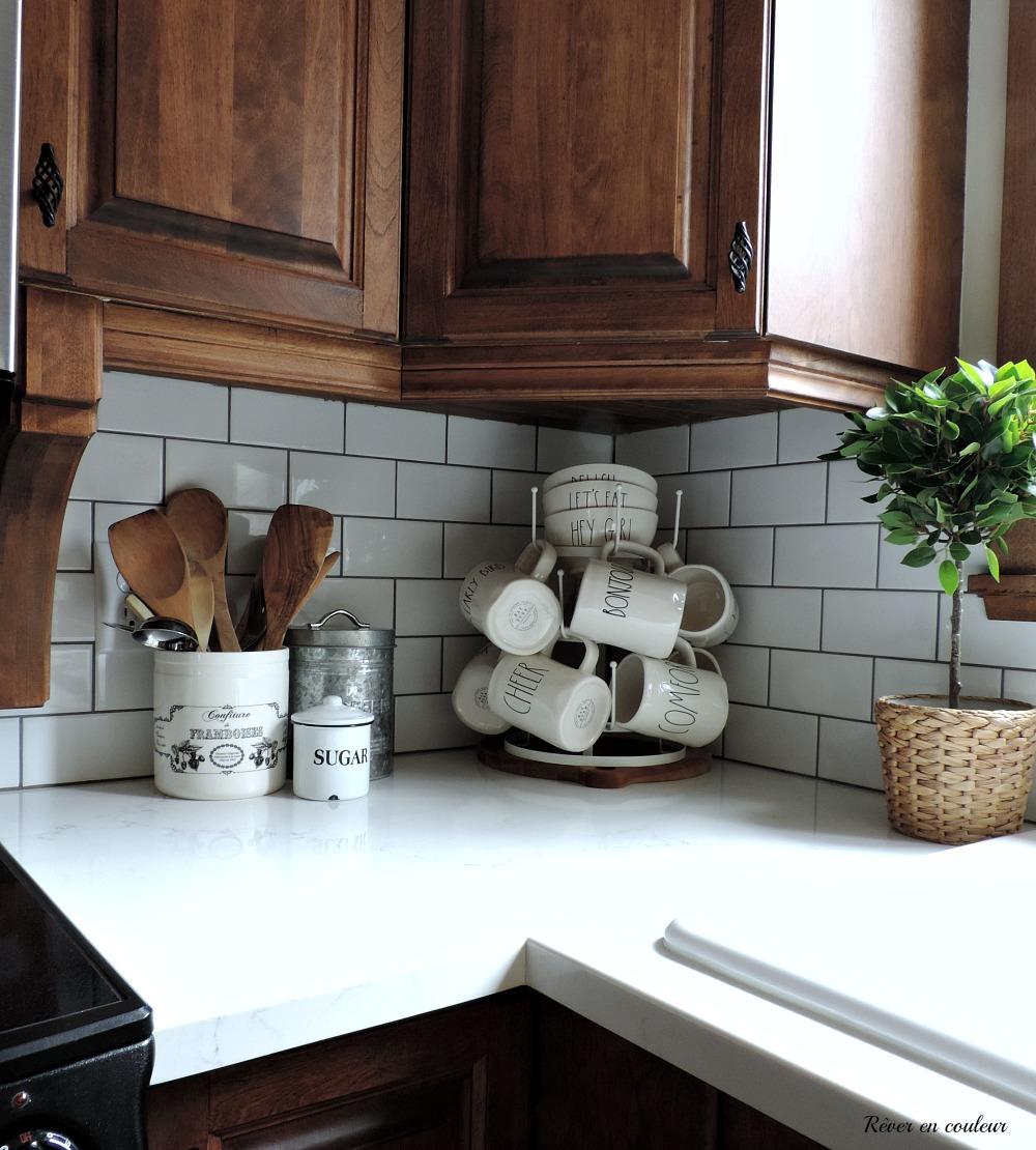 Kitchen renovation part 1 new counter and backsplash