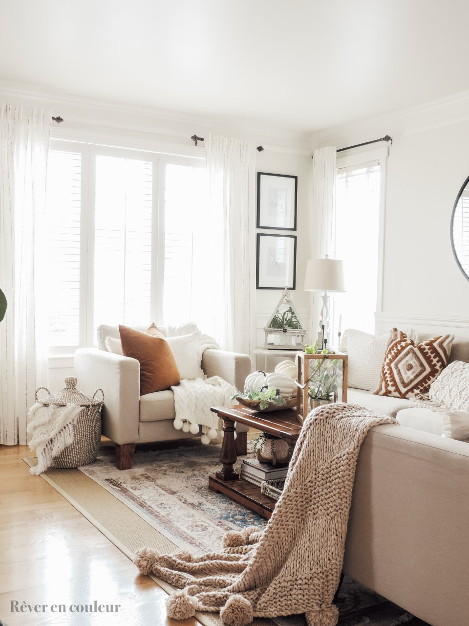 Fall living room refresh