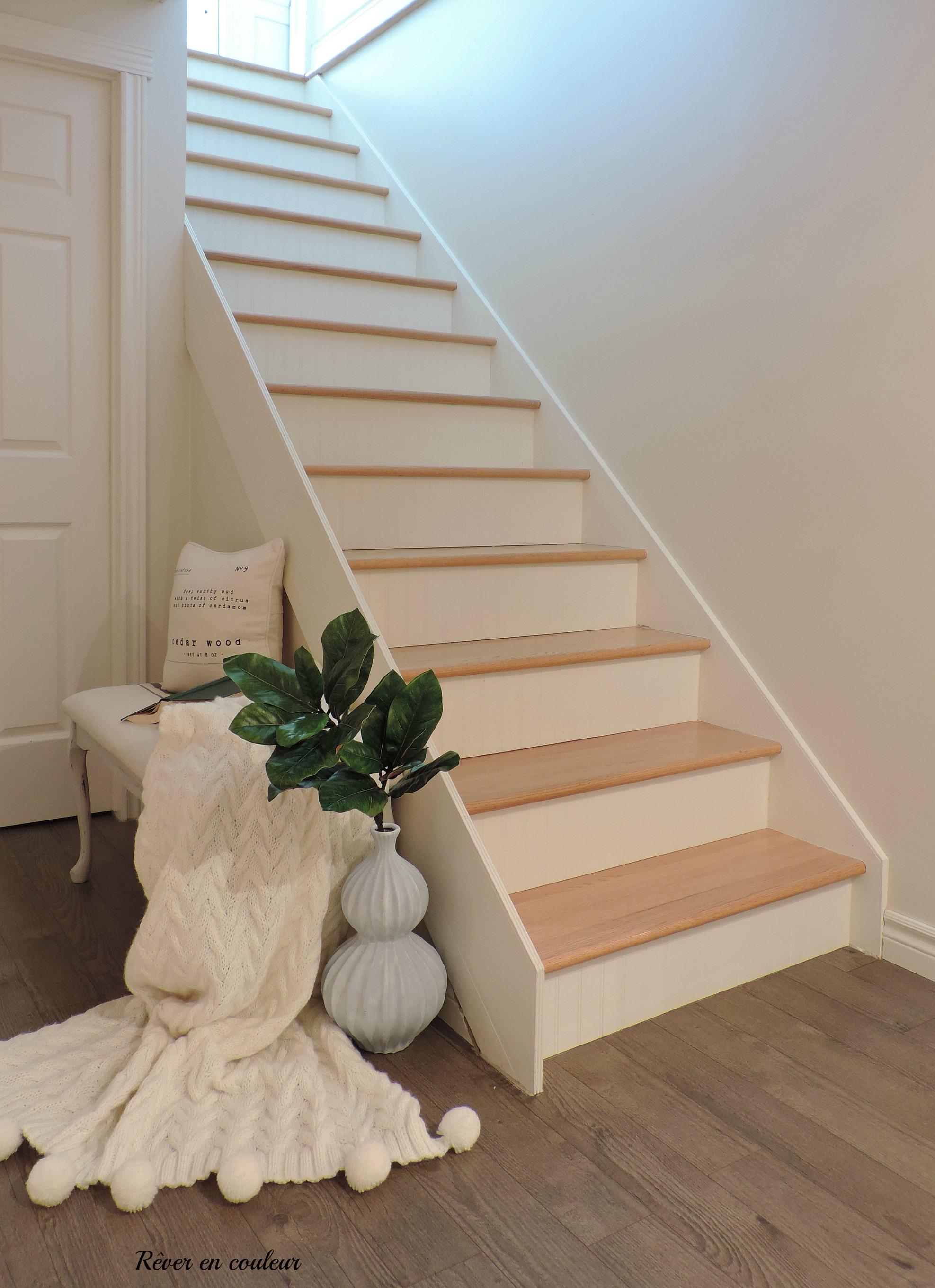 Peindre Une Rampe D Escalier En Bois l'escalier du sous-sol avant et après - rêver en couleur