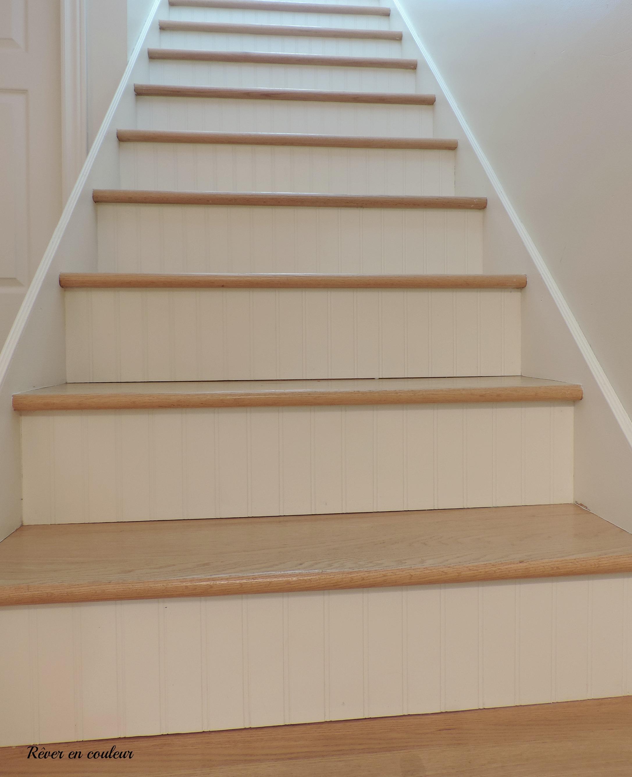 Vernis Pour Marche Escalier l'escalier du sous-sol avant et après - rêver en couleur
